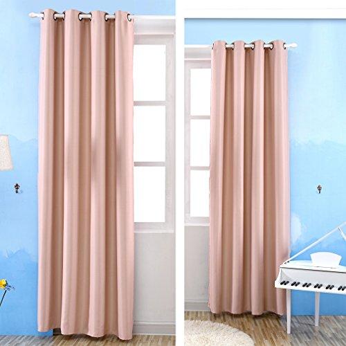 Kinlo® 2Vorhang Blickdicht Verdunklungsvorhang für Wohnzimmer