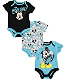 """Mickey Mouse Baby Boys' """"I Am Incredible"""" 3-Pack Bodysuits"""