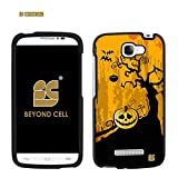 DisignCase® For Alcatel One Touch Fierce 2 7040T (Metro Pcs / T-Mobile) Image Design Graphic Pictorial Pattern Cellphone Shell Cover 2 Pieces Hard Case [ Easy Clip on / Snap on / off ] [Silm Fit Light Weigh] Durable Cell Phone Cases - Halloween Pumpkin Spooky Design