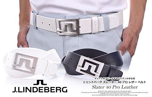 NEW J.Lindeberg Slater 40 Pro Genuine Leather Golf Belt Black Size 85