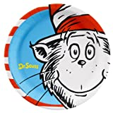 "Dr Seuss Classic Book Characters 9"" Lunch Plates 8 Pack"