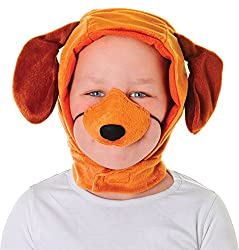 Children Fancy Dress Nativity Animal Party Puppy Dog Disguise Set Hood & Nose Uk by Bristol Novelty
