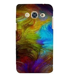 PrintVisa Colorful Modern Art Design 3D Hard Polycarbonate Designer Back Case Cover for SAMSUNG GALAXY J3 PRO
