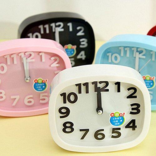 Mini Battery Operated chevet numérique silencieuse réveil pour enfants ( R )