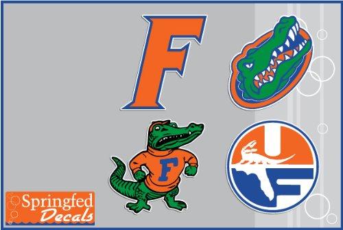 Florida Gators Vinyl Decals Combo 4 Pack #2 Car Truck Iphone Uf Stickers