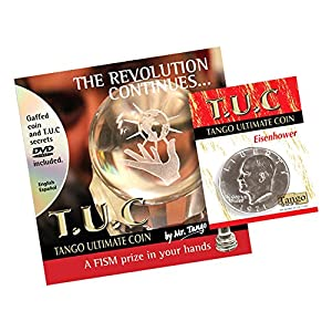 MMS Tango Ultimate Coin Eisenhower Dollar with Instructional DVD Tango Trick Kit