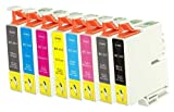 Set of 16 Compatible High Yield Ink Cartridges for Epson T0341-T0348 Series - TWO SETS (NON OEM)