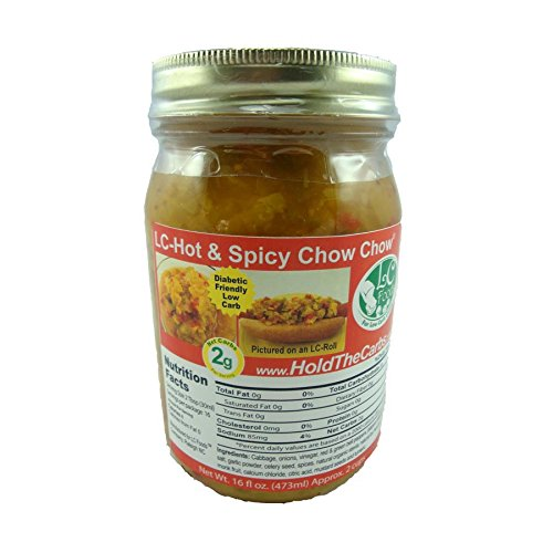 Low Carb Spicy Relish - LC Foods - All Natural - Paleo - Gluten Free - No Sugar - Diabetic Friendly - LC Foods - 16 oz (Pickle Relish Sugar Free compare prices)