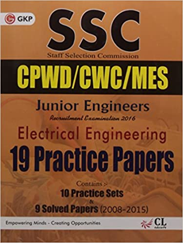 SSC JE Electrical Engineering Solved Papers -19 Practice