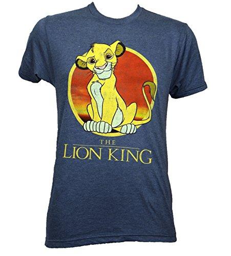 Disney Lion King Young Simba T Shirt Large Heather Navy