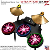 Lightning Pink Skin by WraptorSkinz fits Guitar Hero 4 World Tour Drum Set for Nintendo Wii, XBOX 360, PS2 & PS3 (DRUMS NOT INCLUDED)
