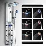 AKDY Aluminum Shower Panel AzV5333d Rain Style System with 3 Colors LED