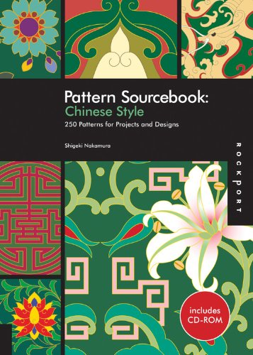 Pattern Sourcebook: Chinese Style : 250 Patterns for Projects and Designs (1Cédérom)