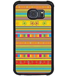 Printvisa Multicoloured Ethenic Pattern Back Case Cover for Samsung Galaxy S6 Edge::Samsung Galaxy S6 Edge G925