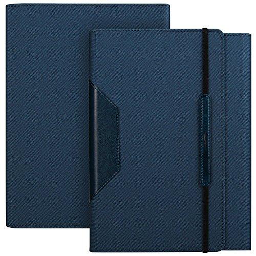 iPad Air2 ケース、iPad Air 2 スマートカバー手帳型 ESR® ストラプ付き PU レザー ケース オートスリープ 防水スタンド機能 インテリジェントシリーズ(ブルー)