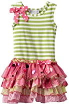 Bonnie Jean Girls 2-6X Mesh Sparkle Dress, Green, 2T