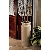 Authentic 44-lb. Solid Ivory Marble Cane and Umbrella Vessel