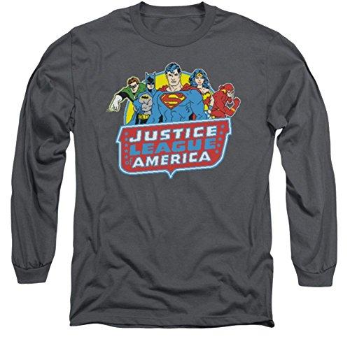 Justice League 8 Bit Leagues Long Sleeve T-Shirt
