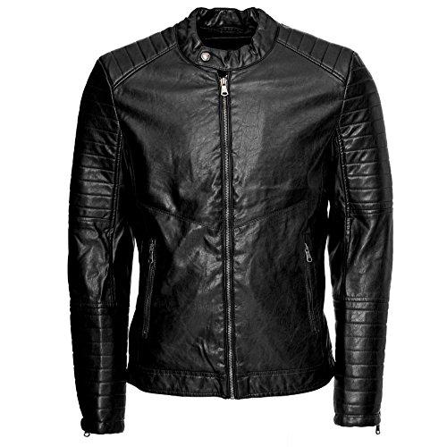 Uomini giacca in pelle giacca da uomo | similpelle | 1026 nero M