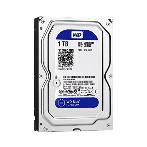 【Amazon.co.jp限定】WD HDD 内蔵ハードディスク 3.5インチ 1TB Blue WD10EZRZ/AFP / 5,400rpm / SATA3.0 / 2年保証