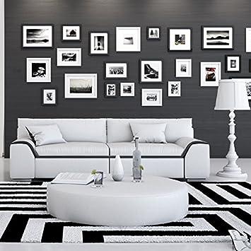 Innocent Sofa 2-Sitzer Azure weiß / schwarz