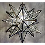 Star Moravian Lamp Light Fixture Glass Pendant Starburst Modern Chic Country