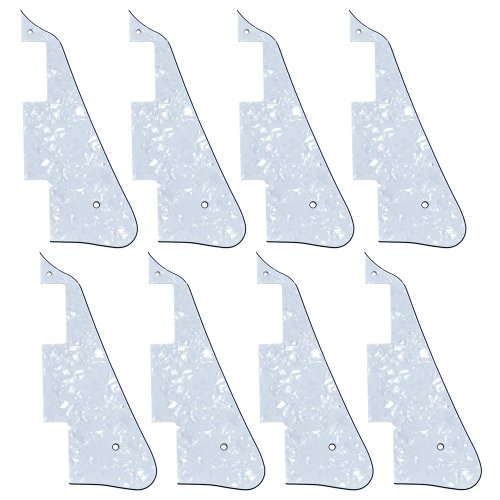 8Pcs New White Pearl Electric Guitar Pickguard For Gibson Les Paul Guitar Replacement
