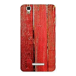 Gorgeous Red Bar Wood Print Back Case Cover for Yu Yureka