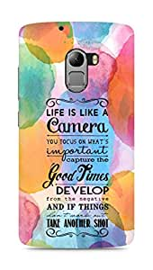 AMEZ life is like a camera Back Cover For Lenovo K4 Note