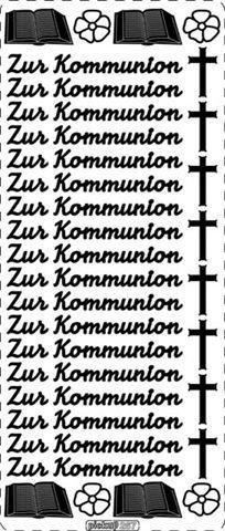 """pickup® Peel Off Konturen-Sticker 267 silber, """"Zur Kommunion"""" (mit Bibel und Kreuzen)"""