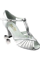 """Very Fine Women's Salsa Ballroom Tango Dance Shoes 2707 Bundle with Dance Shoe Heel Protectors 2.5"""" Heel"""
