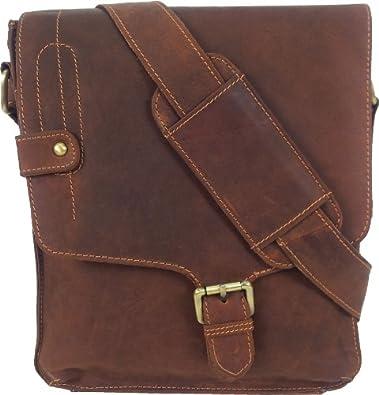 Unicorn Leather Cognac Tan ipad , Ebook or Tablets bag Messenger #5M