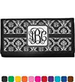 Monogrammed Damask Personalized Checkbook Cover