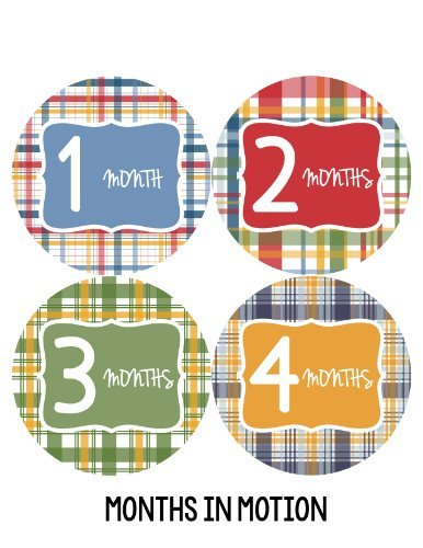 Months in Motion 156 Monthly Baby Stickers Milestone Age Sticker Photo Prop
