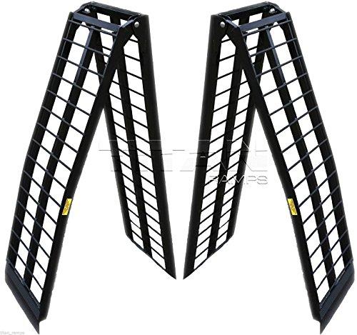 8-ft-HD-Aluminum-UTV-Wide-Loading-Ramps-ranger-rhino-gator-atv-2000-lb-Capacity