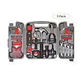 Apollo Tools DT9408 53 Piece Household Tool Set with Wrenches, Precision Screwdriver Set and Most Reached for Hand Tools in Storage Case (Thr?? ???k)
