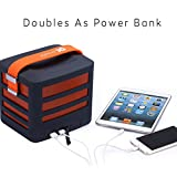 Portable Wireless Bluetooth Speaker with Built-In Powerbank Plus 2 USB Ports - Get Epic Audio Wherever You Go. (Orange)