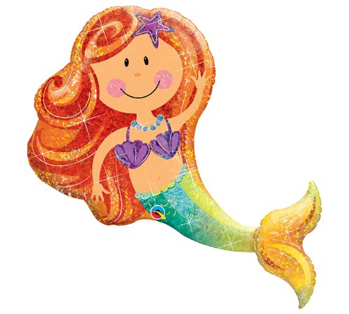 "Merry Mermaid 38"" Giant Foil Balloon"