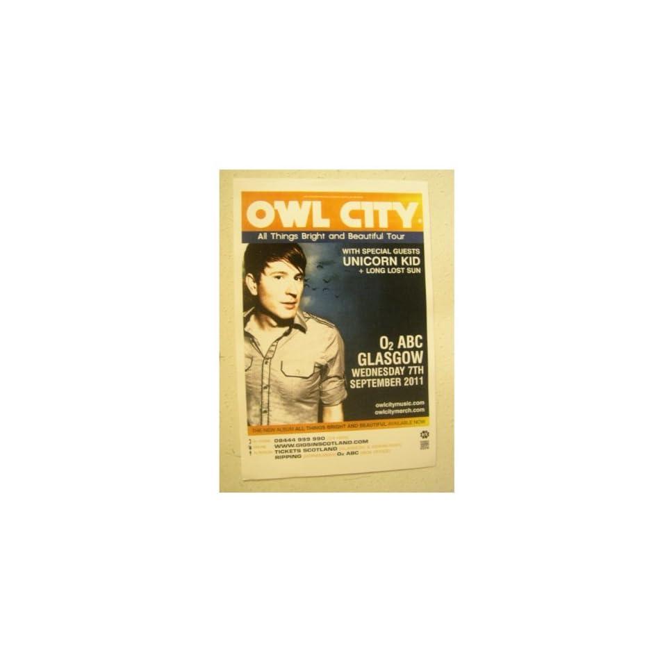 Owl City Poster Handbill on PopScreen