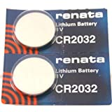 FOSSIL Watches:CR2032 Renata Watch Batteries 2Pcs
