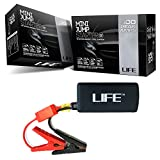 BEST Mini Car Jump Starter by LIFE with 2 FREE BONUSES (worth $25+) – 12000mAh 400 Peak Amps – 2 in 1 Automotive Battery Starter and Rechargeable Portable Power Bank – Uber Premium Design with High Quality Parts and Built In Electricity Protection for MAXIMUM Safety – One Year 'Peace of Mind' Replacement Cover Picture