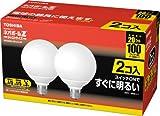 東芝 ネオボールZ ボール電球100ワットタイプ 3波長形電球色 ガラス乳白色 2個パック     EFG25EL/20-ZJ-2P