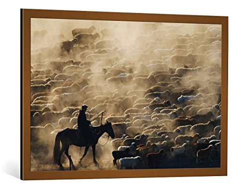 framed-art-print-adam-chen-grazing-in-the-morning-decorative-fine-art-poster-picture-with-high-quali