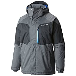 Columbia Men\'s Alpine Action Jacket, Graphite/Black, Medium