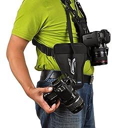Opteka MCH-25 Multi Camera Carrier Harness Holster System for DSLR Cameras
