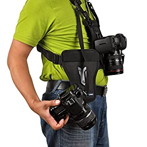 Opteka MCH-25 Multi Camera Carrier Harness Holster System for DSLR Cameras