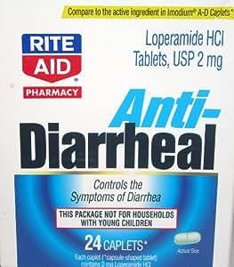 Rite Aid Anti Diarrheal 24 Caplets Health