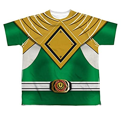 Power Rangers Green Ranger Uniform All Over Print Youth Front T-Shirt