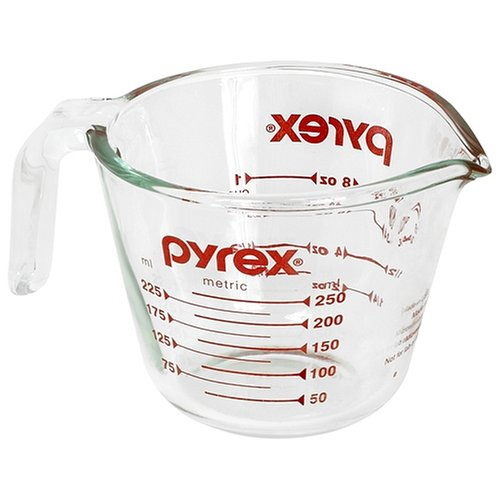 Pyrex Prepware 1-Cup Measuring Cup, Clear with Red Measurements (Refrigerator Grab N Go compare prices)