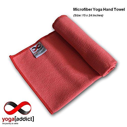 The Combo Yoga Mat Luxurious Non Slip Mat Towel: YogaAddict Yoga Mat Towel And Hand Towel Combo Set